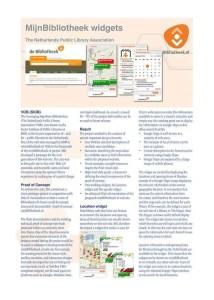 Dutch Libraries Brochure