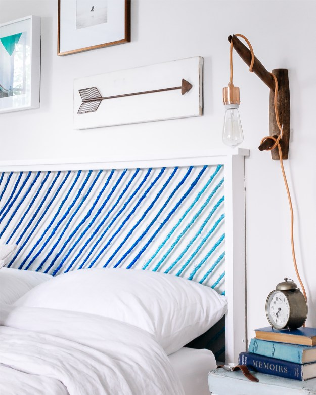 diy: how to make a painted rope headboard - bright bazaarwill taylor