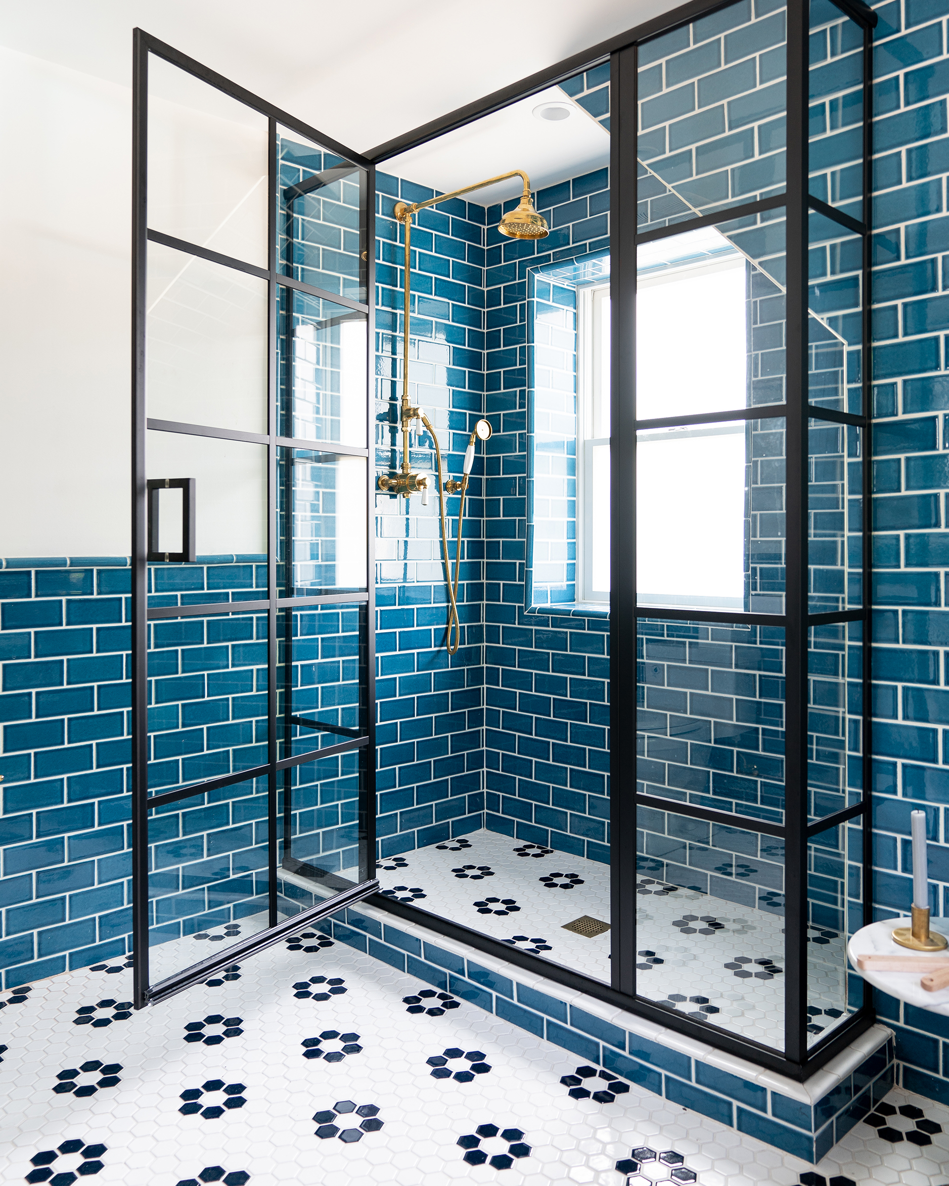 Subway Tile Bathroom Blue Subway Tile Bathroom 1 Bright Bazaar By Will Taylor