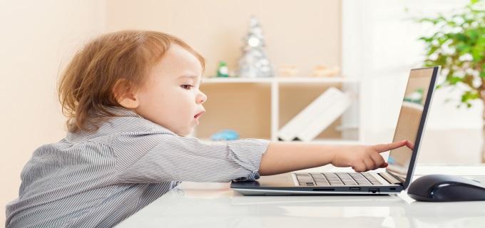 toddler studying