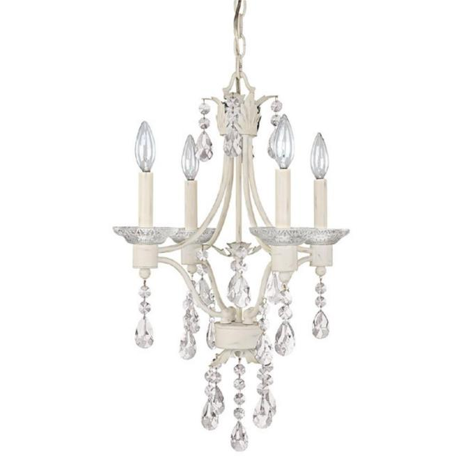 Four Light Shabby Chic Up Mini Chandelier