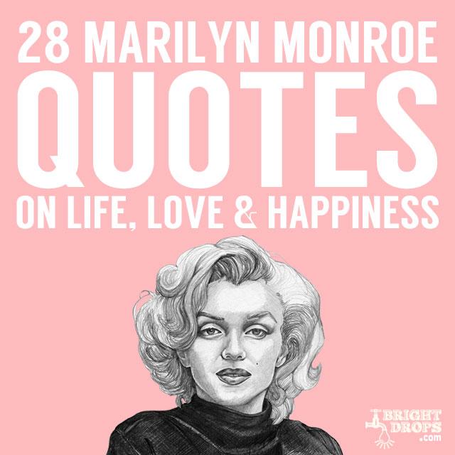 Beautiful Words From Marilyn Monroe