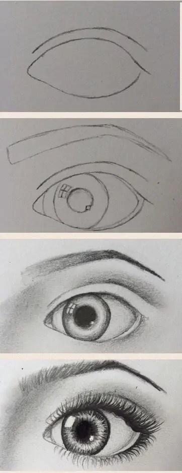 20 Amazing Eye Drawing Tutorials Ideas
