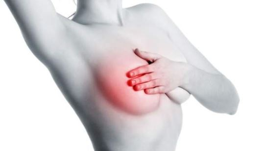 What causes a burning sensation in breast