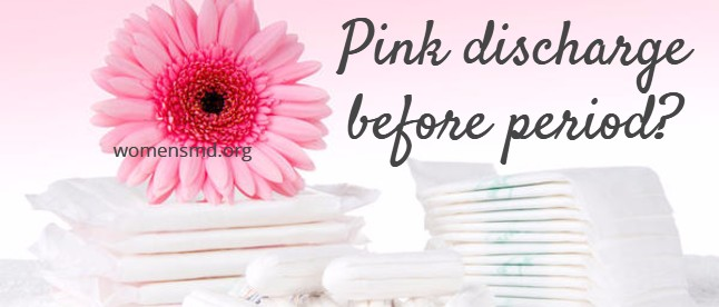 Pink discharge before period