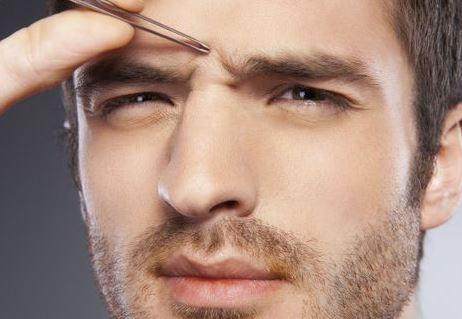 Tweeze the unibrow to remove it permanently