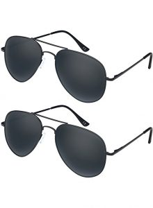 Elimoons aviator sunglasses for wide nose
