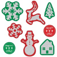 Ugly Sweater Window Cling Decorations