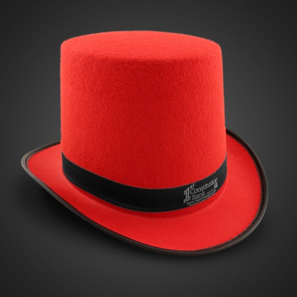Red Felt Top Hat Imprintable Bands
