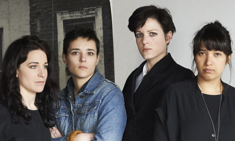 The band Savages, from left: Fay Milton, Jehnney Beth, Gemma Thompson, Ayse Hassan