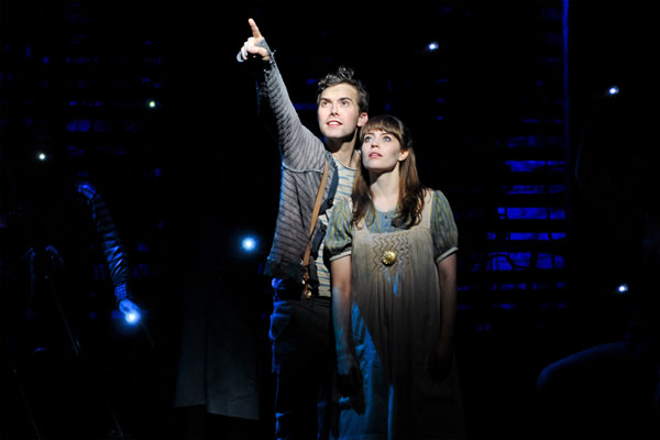 Joey deBettencourt, left, and Megan Stern in 'Peter and the Starcatcher.' (Photo by Jenny Anderson; courtesy Kennedy Center)