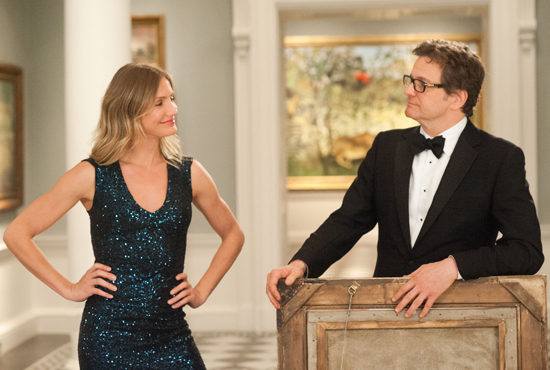 Harry Deane (COLIN FIRTH) and PJ Puznowski (CAMERON DIAZ) in GAMBIT