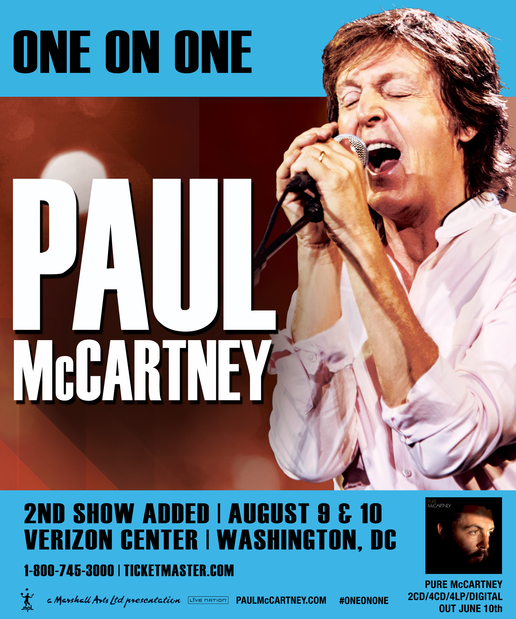 PaulMcCartney VerizonCenter 2ndShowAdded BYT Brightest Young