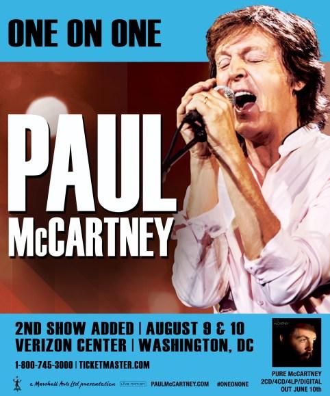 PaulMcCartney-VerizonCenter-2ndShowAdded