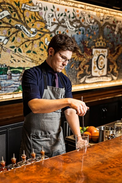 Columbia Room Head Bartender JP Fetherston by Scott Suchman