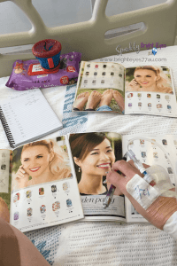 Living with MS hospital bed Jamberry catalogues