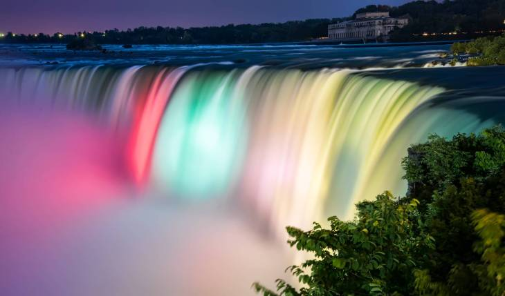 time lapse photography of waterfalls