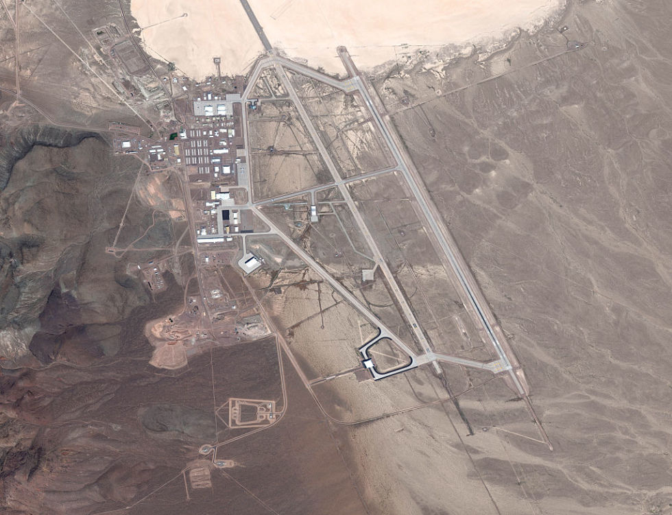 Satellite image shows Area 51 from above. But what happens inside the base?
