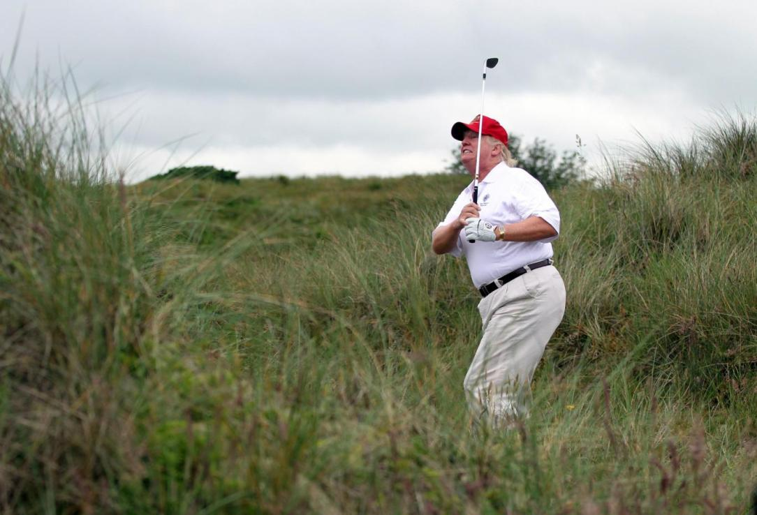 Trump on the golf course in Florida
