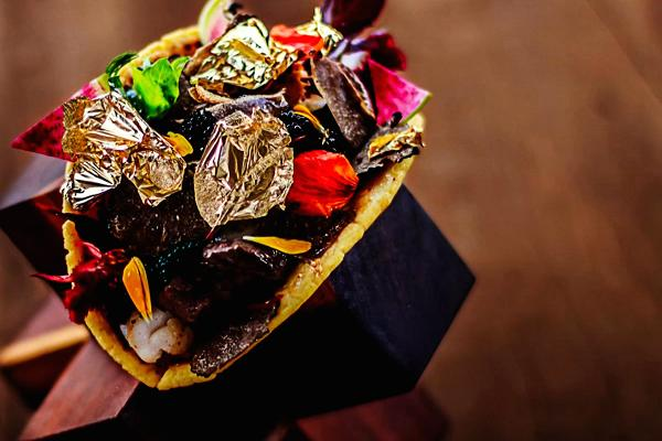 Gold infused taco
