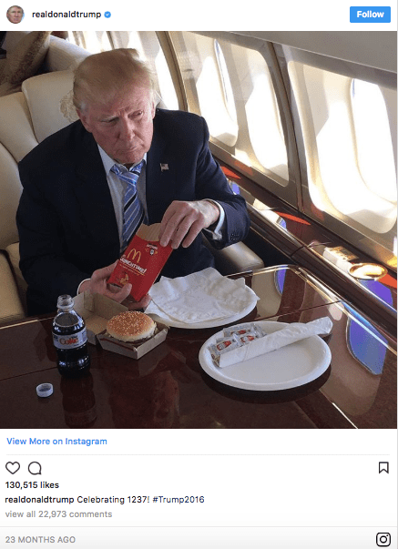 Donald Trump loves his fast food