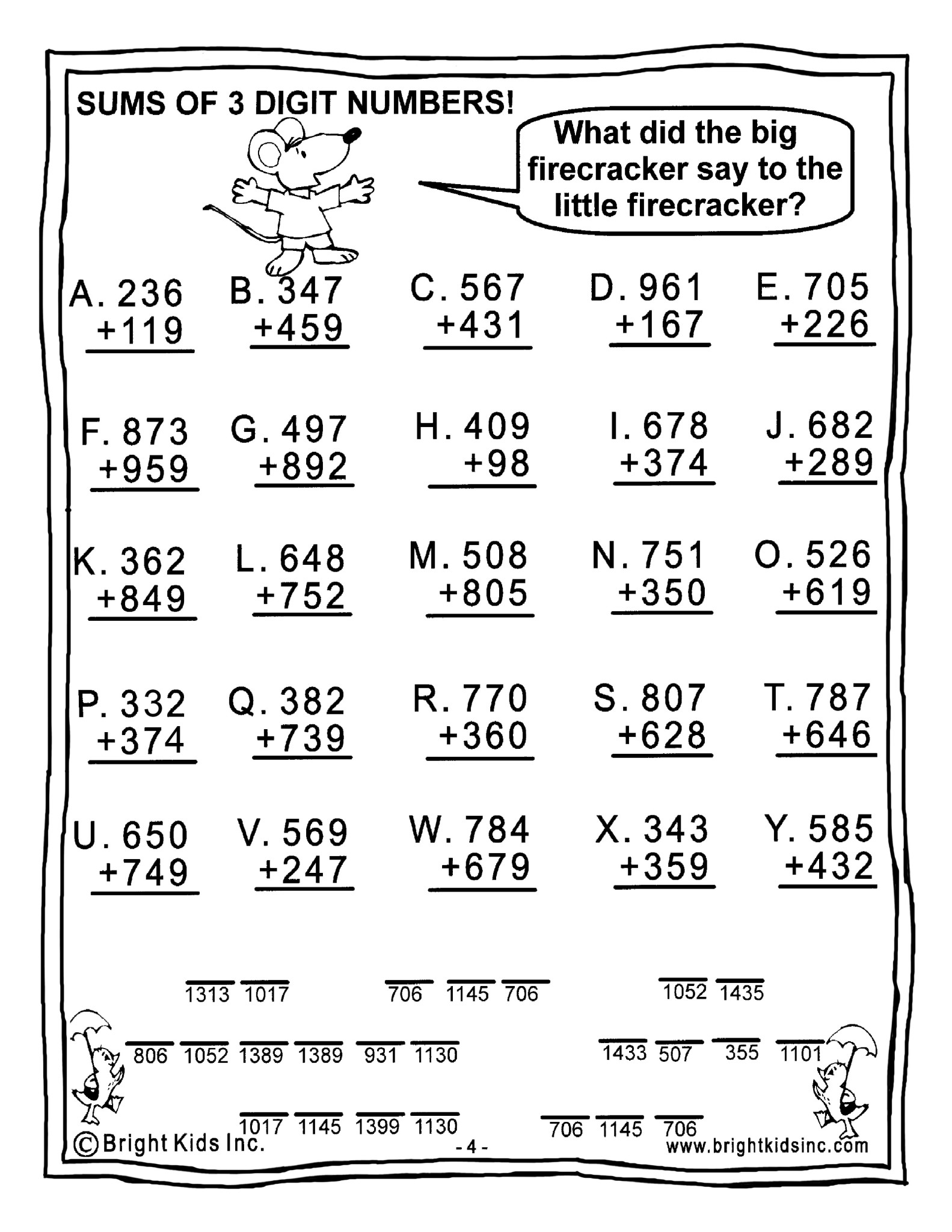 Grade 1 Math Worksheet Cbse