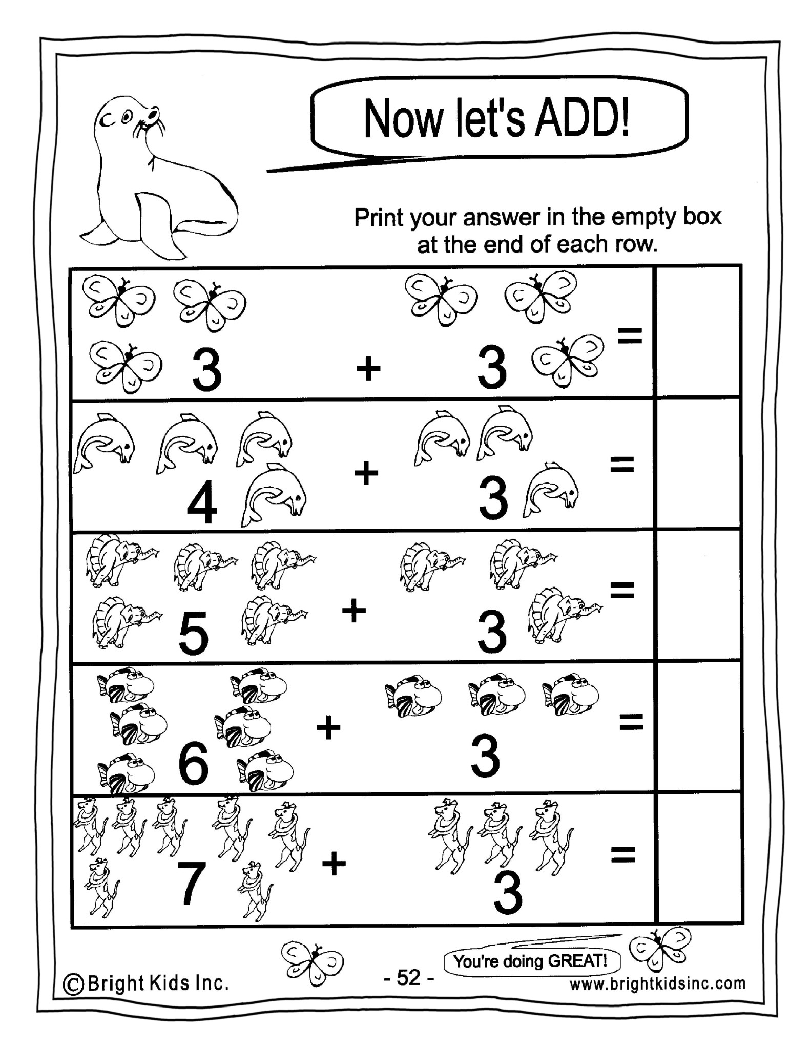 Kindergarten Math Power Workout