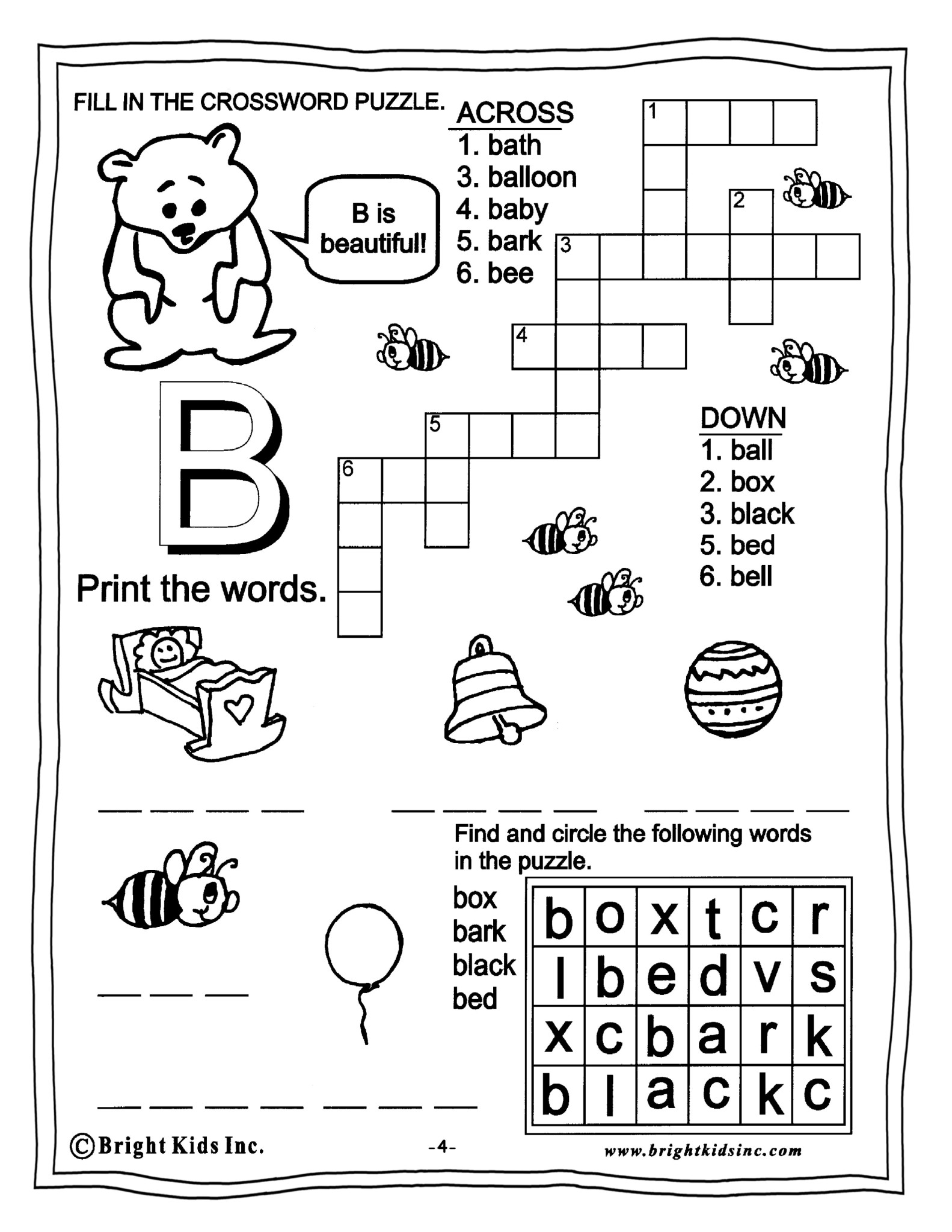 English Grade 1 Worksheets