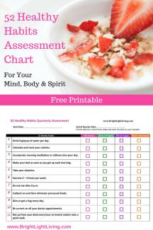52 Healthy Habits Assessment Chart