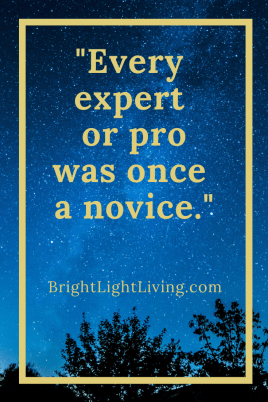 Every expert or pro was once a novel