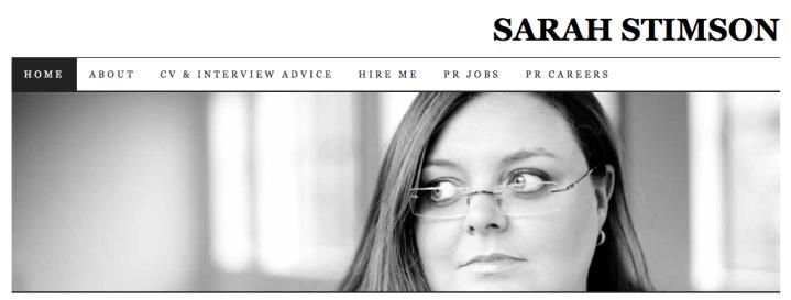 Sarah Stimson's 50 UK PR female blogger list – I'm on it!