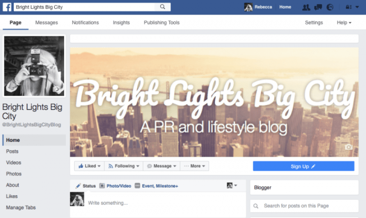Bright Lights Big City now has a Facebook page!