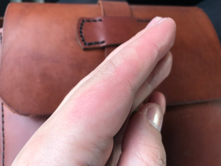 Sore Hands from The process of making a leather satchel with The Maker's Guild