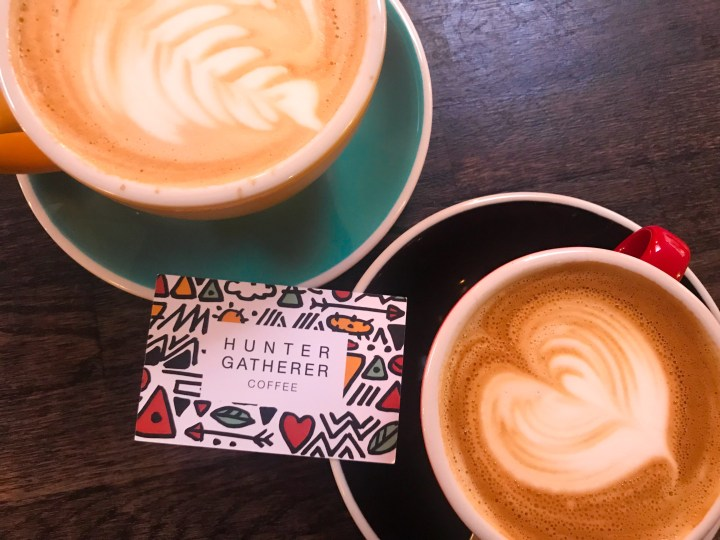 Coffee at Hunter Gatherer in Portsmouth, Hampshire.
