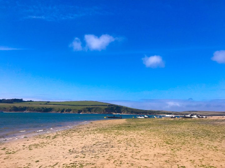 The beach in Rock, over the water from Padstow in Cornwall