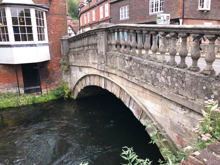 The bridge by Winchester City Mill in Hampshire, England