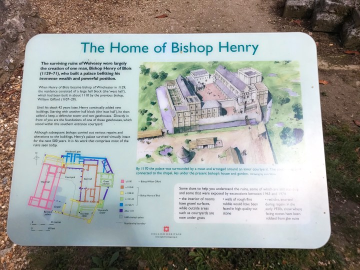 Information about Bishop Henry at Wolvesey Castle ruins in Winchester, Hampshire, England, UK