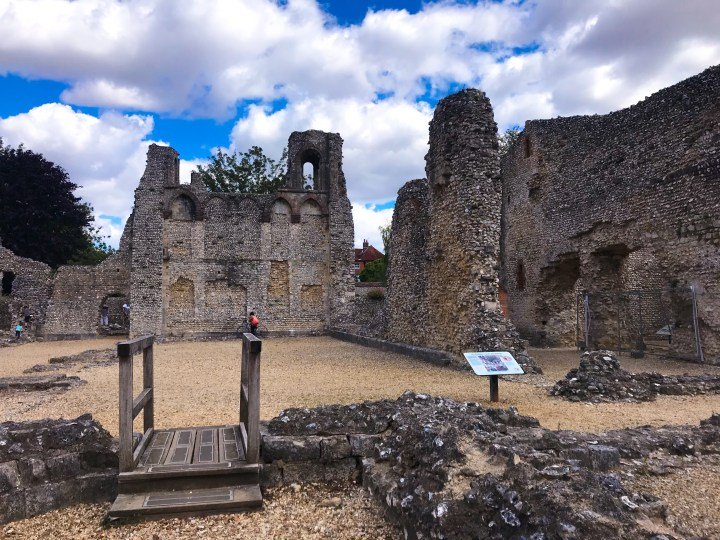 Wolvesey Castle ruins in Winchester, Hampshire, England, UK