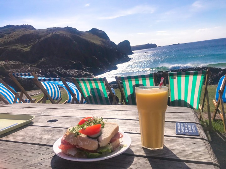 Bacon Sandwiches at Kynance Cove in Cornwall, England, UK