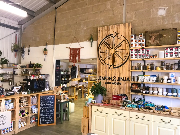 Lemon & Jinja zero waste shop in Romsey, Hampshire
