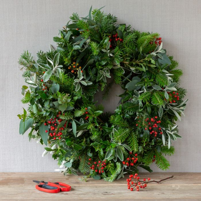 The Real Flower Company on Christmas Wreath Making Kits from Hampshire Florists