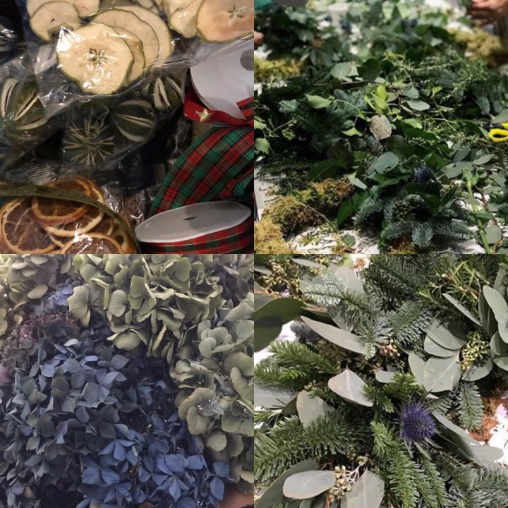 Belles in the Woods on Christmas Wreath Making Kits from Hampshire Florists