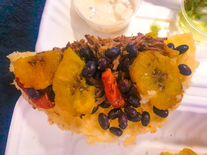 The Montanera Arepa from Latin Food At Home, Colombian take away food from Portsmouth, Hampshire