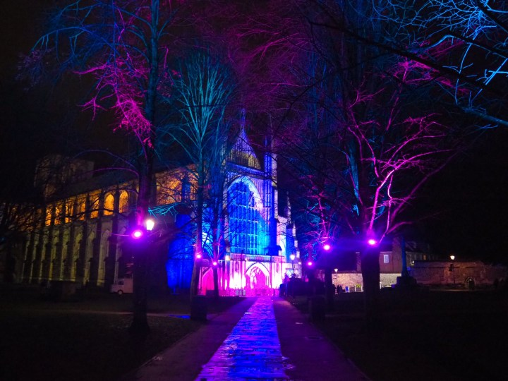 The Winchester Christmas Lights at Winchester Cathedral