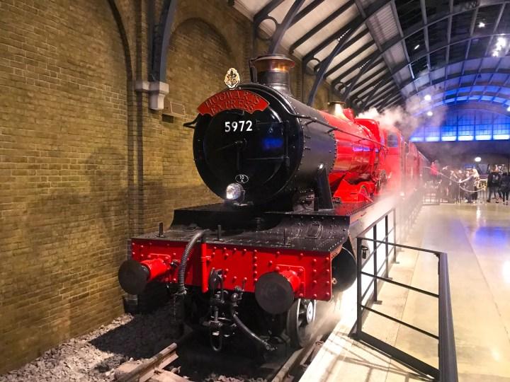 The Hogwarts Express set at Warner Bros. Studio Tour - The Making of Harry Potter