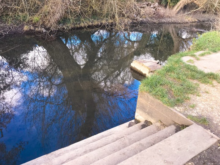 Steps on the Titchfield Canal.