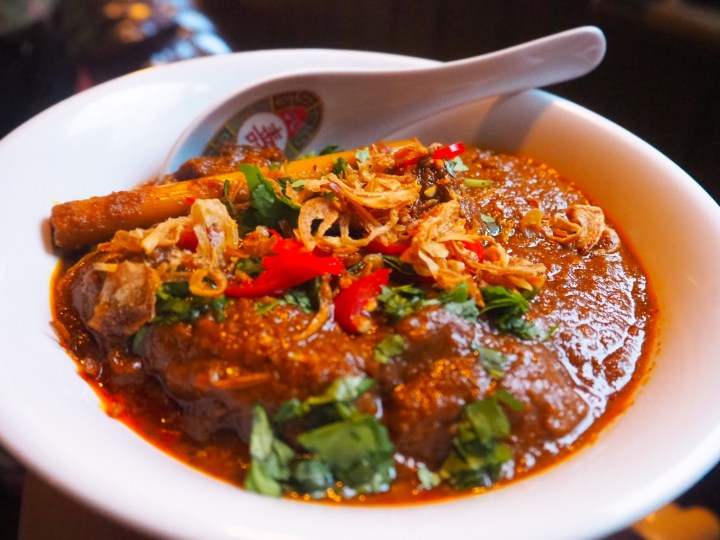 The beef cheek Rendang curry at Lucky Lychee