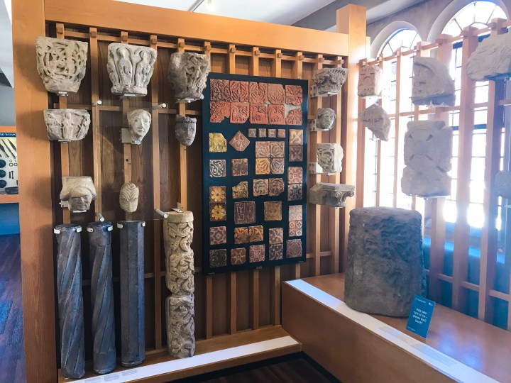 Some of the stone artefacts at Winchester City Museum