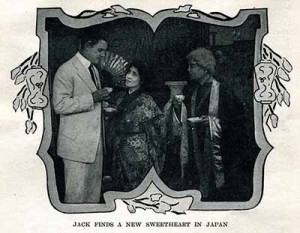Publicity art for Miss Taku of Tokio, from Motion Picture Story magazine, December 1912