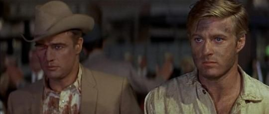 Marlon Brando and Robert Redford in Penn's The Chase